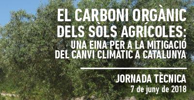 La jornada del carboni orgànic en sòls agrícoles