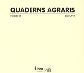 Quaderns Agraris núm. 44 : juny 2018