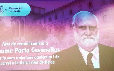 Acte de reconeixement al company Dr. Jaume Porta